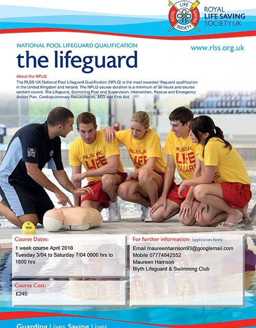 Pool Lifeguard, 1 Week Course, April 2018