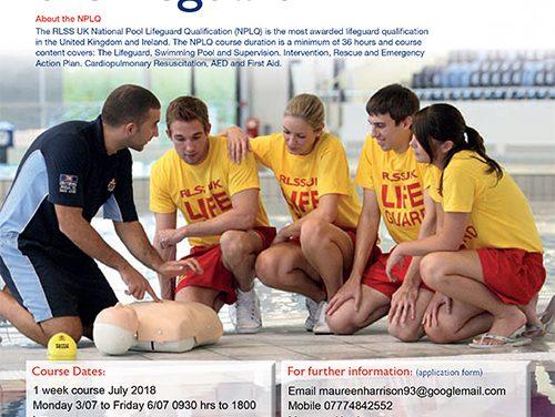 Pool Lifeguard, 1 Week Course, July 2018